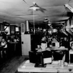 German prisoners of war working in the post office at Camp Hearne during the war.