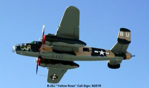 Yellow Rose - B25J Mitchell Bomber
